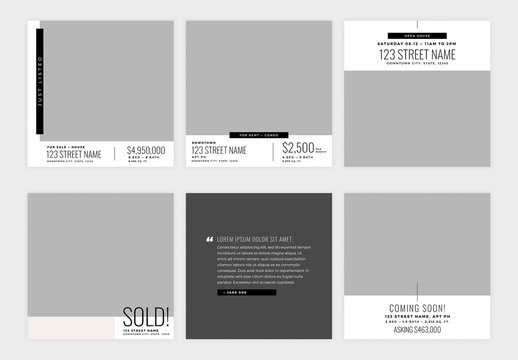 9 Real Estate Social Media Post Layouts