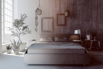 Concept of bedroom interior design