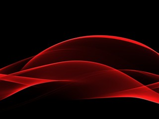 Abstract Soft Color Red Wave Background