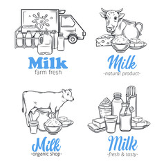Milk product banners