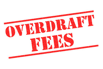 OVERDRAFT FEES Rubber Stamp