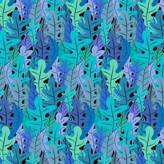 Hand Drawn Floral Pattern Background. Vector Illustration.