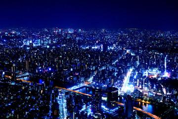 東京スカイツリーから眺める夜景