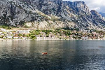 Kayak in Bay of Kotor