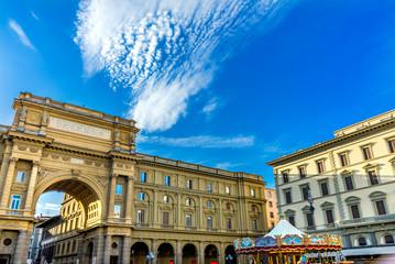 Arcone Triumphal Arch Archway Piazza della Repubblica Florence Italy
