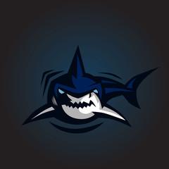 shark logo emblem vector