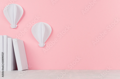 Creative Back To School Background White Books And Hot Air