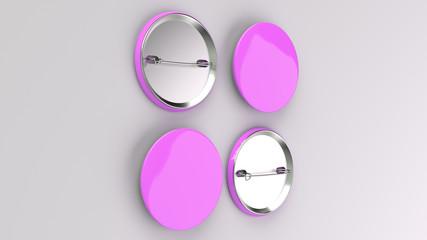 Blank purple badge on white background