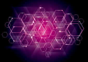 Abstract technology background for geometrical graphic concept design.use layer overlay effect.