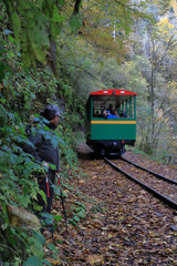 Mountain railway. Mountain Gorge.