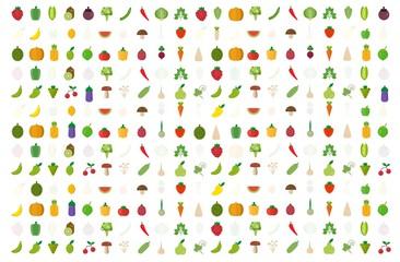 vegetables fruits organic background. vector illustration