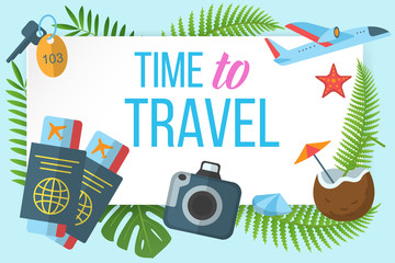 Time to travel horizontal banner