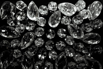 Diamond and black background.