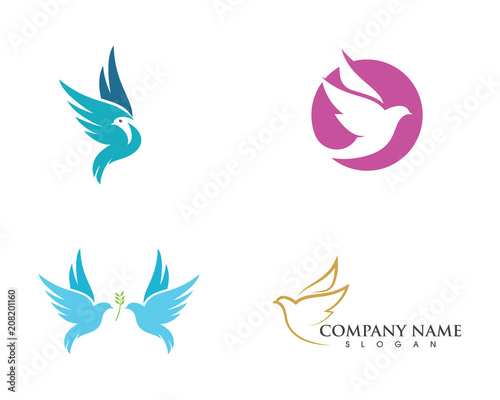 bird wing dove logo template fotolia com の ストック画像と