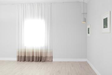 Empty living room with window. Interior design
