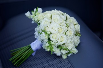 bright wedding bouquet for the ceremony