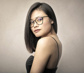 Portrait of a beautiful elegant woman