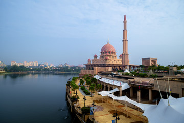 Putra Mosque or Masjid Putra, Putrajaya Malaysia