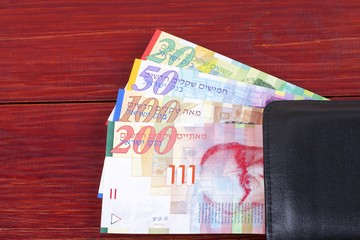 Money from Israel in the black wallet