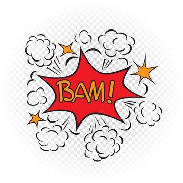 bam explode cartoon illustration