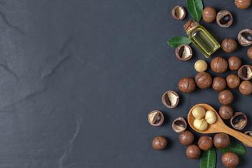 Macadamia nuts with macadamia nut oil