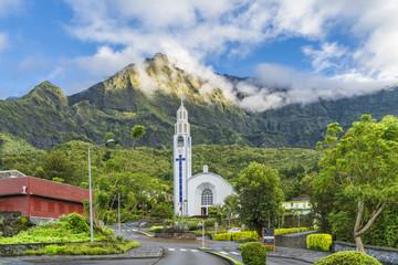 Wall Mural - Cilaos town in Cirque de Cilaos, La Reunion island