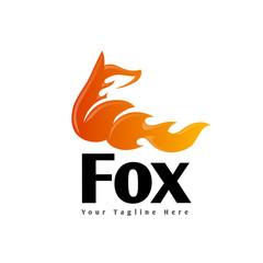 fox with fire spirit wake up logo