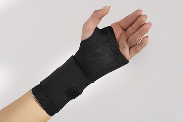 Hand with wrist support
