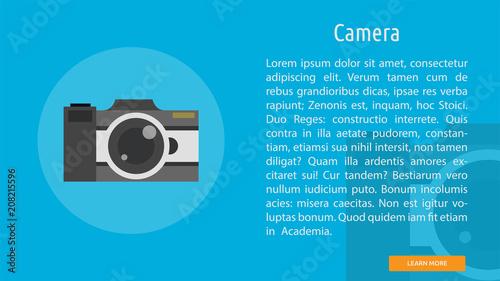 Camera Conceptual Banner Design