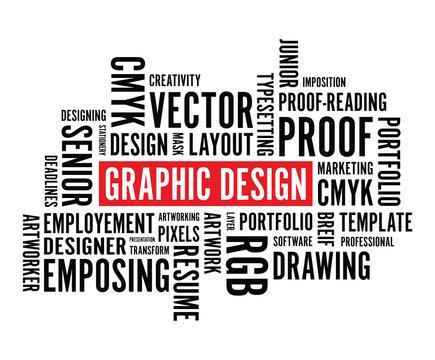 graphic design word background