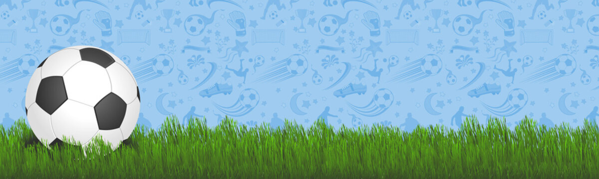 soccer ball with grass with iconic background