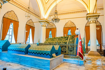 Orhan Gazi tomb,mausoleum in Bursa, Turkey