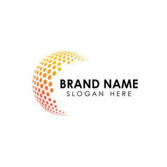 halftone 3D globe logo design vector symbol icon. dotted globe icon