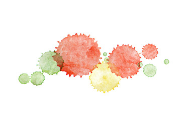 Colorful watercolor blots for background