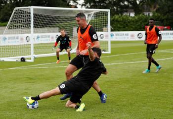 England & Soccer Aid World XI Training