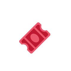 Cinema ticket coupon match event icon vector symbol illustration flat