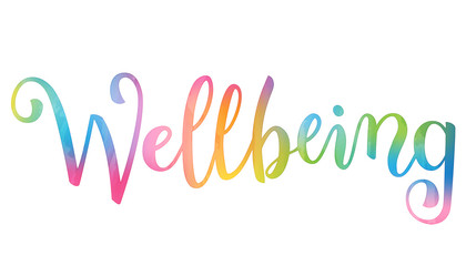 WELLBEING brush calligraphy banner