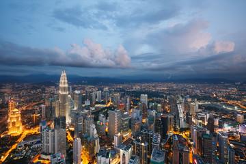 Kuala Lumpur city at dusk, Malaysia