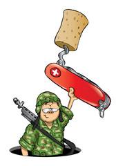 cartoon Swiss pocket knife