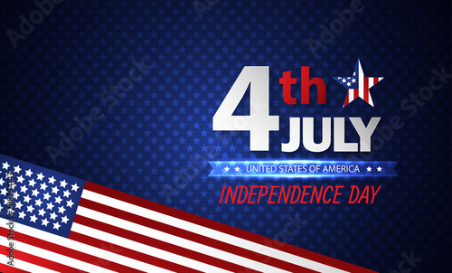 Fourth of July Independence Day  Abstract background  Vector