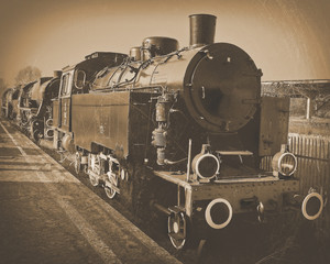 An old locomotive.