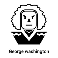 George washington icon vector sign and symbol isolated on white background, George washington logo concept