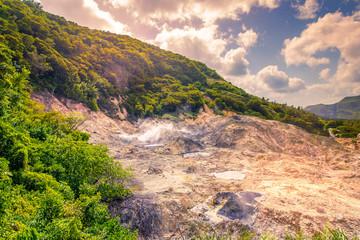 Vulcano la Soufriere - St Lucia  Caribbean island