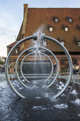 Fountain in Gdansk. Poland