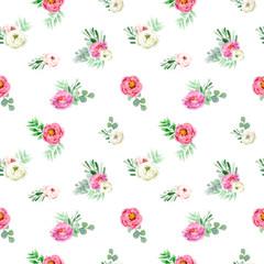 Elegant watercolor seamless pattern