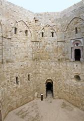 Inner court of Castel del Monte