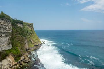 cliff into the sea