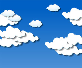 Clouds background. Blue sky with white cloud