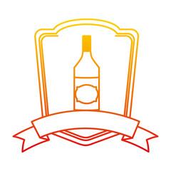 degraded line schnapps liquor bottle beverage emblem