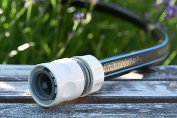 Garden water hose closeup